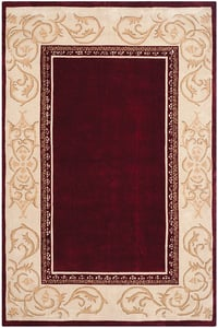Burgundy, Ivory (A) Total Performance TLP-727 Contemporary / Modern Area Rugs