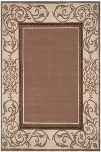 Mocha, Ivory (B) Total Performance TLP-727 Contemporary / Modern Area Rugs