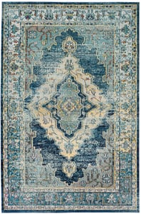 Blue, Yellow (M) Crystal 500 Vintage / Overdyed Area Rugs