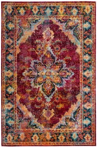 Ruby, Navy (R) Crystal 508 Vintage / Overdyed Area Rugs