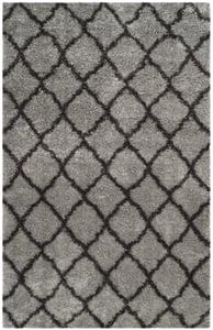Grey, Dark Grey (S) Indie Shag SGI-322 Shag Area Rugs