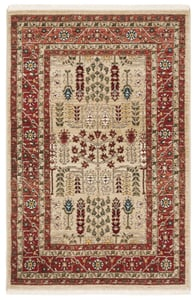 Red, Beige (C) Margaux LRL1297 Traditional / Oriental Area Rugs