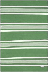 Green, Ivory Hanover Stripe LRL2461 Striped Area Rugs