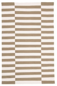 Brown, Ivory (C) Ludlow Stripe LRL7350 Contemporary / Modern Area Rugs