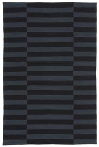 Black, Charcoal (E) Ludlow Stripe LRL7350 Contemporary / Modern Area Rugs