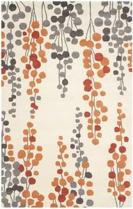 Beige, Orange (B) Soho III SOH-338 Contemporary / Modern Area Rugs