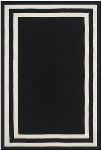 Jet Black (A) Fitzgerald Border RLR-4151 Contemporary / Modern Area Rugs