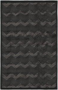 Onyx (E) Monroe Chevron RLR-6725 Chevron Area Rugs