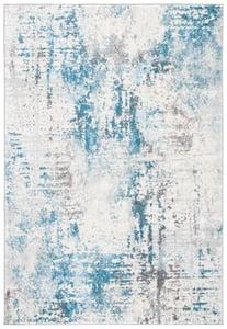 Ivory, Blue (A) Tulum TUL-232 Contemporary / Modern Area Rugs