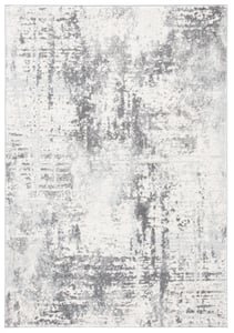 Ivory, Charcoal (B) Tulum TUL-232 Contemporary / Modern Area Rugs