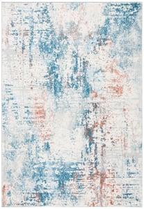Ivory, Dark Blue (C) Tulum TUL-232 Contemporary / Modern Area Rugs