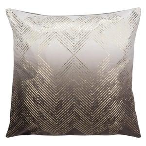 Brown, Gold (PLS-7144A) Pillow I Sarla Contemporary / Modern Pillow