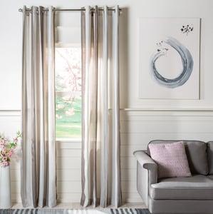 Beige, Ivory (WDT-1044) Axton Curtain Reid Semi-Sheer Striped Curtains