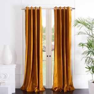 Mustard (WDT-1054A) Yorkshire Curtain Vera Velvet Solid Curtains