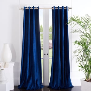 Royal Blue (WDT-1054B) Yorkshire Curtain Vera Velvet Solid Curtains