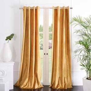 Golden (WDT-1054D) Yorkshire Curtain Vera Velvet Solid Curtains