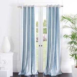 Sky Blue (WDT-1054E) Yorkshire Curtain Vera Velvet Solid Curtains