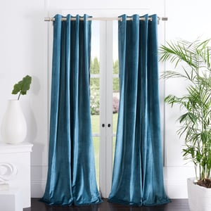 Teal (WDT-1054C) Yorkshire Curtain Vera Velvet Solid Curtains
