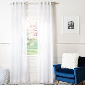 White (WDT-1047A) Felicity Curtain Grace Semi-Sheer Solid Curtains