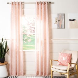 Pink (WDT-1047C) Felicity Curtain Grace Semi-Sheer Solid Curtains