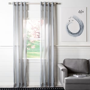 Grey (WDT-1046A) Andover Curtain Archie Sheer Solid Curtains