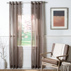Brown (WDT-1046C) Andover Curtain Archie Sheer Solid Curtains