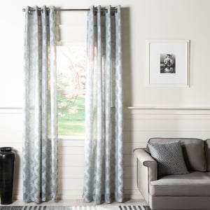 Charcoal (WDT-1048C) Exeter Curtain Hattie Semi-Sheer Contemporary / Modern Curtains