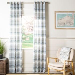 Grey (WDT-1053B) Redford Curtain Ray Semi-Sheer Striped Curtains