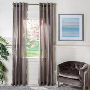 Charcoal (WDT-1040A) Leavenworth Curtain Glen Sheer Solid Curtains