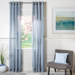Blue (WDT-1040B) Leavenworth Curtain Glen Sheer Solid Curtains