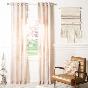 Sand (WDT-1040C) Leavenworth Curtain Glen Sheer Solid Curtains