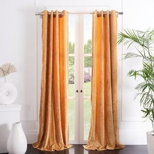 Mustard (WDT-1055C) Hanley Curtain Gwendolyn Velvet Solid Curtains
