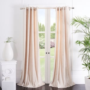 Beige (WDT-1055D) Hanley Curtain Gwendolyn Velvet Solid Curtains