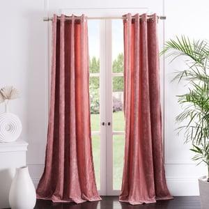 Rose (WDT-1055E) Hanley Curtain Gwendolyn Velvet Solid Curtains