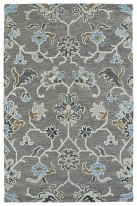 Grey, Light Blue, Brown (75) Helena 3209 Traditional / Oriental Area Rugs