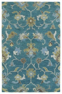 Turquoise, Brown, Sage (78) Helena 3209 Traditional / Oriental Area Rugs
