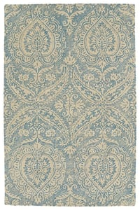 Blue, Linen, Glacier (17) Weathered WTR-01 Contemporary / Modern Area Rugs