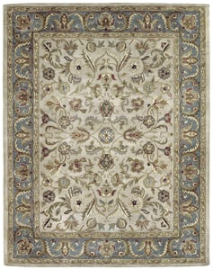 Ivory, Beige, Teal (01) Mystic William Traditional / Oriental Area Rugs