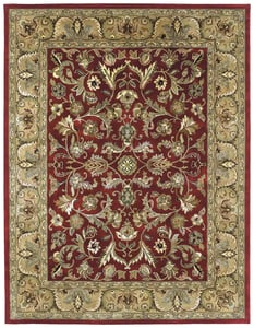 Red, Olive Green, Chocolate (25) Mystic William Traditional / Oriental Area Rugs