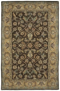Chocolate, Gold, Olive Green (40) Mystic William Traditional / Oriental Area Rugs
