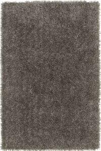 Grey, Black (105) Belize BZ-100 Shag Area Rugs