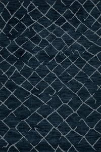 Navy, Blue Bella BL-15 Moroccan Area Rugs