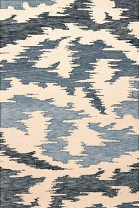 Blue Harbor, Ivory, Blue Bella BL-02 Contemporary / Modern Area Rugs