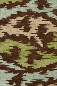Spa, Brown, Beige, Green Bella BL-02 Contemporary / Modern Area Rugs