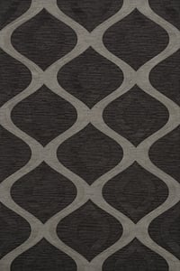 Metal, Charcoal, Grey Quest QT-01 Contemporary / Modern Area Rugs