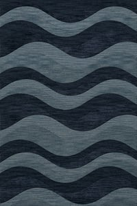 Blue Grotto, Blue Quest QT-04 Contemporary / Modern Area Rugs