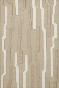 Chopstick, Ivory, Beige Quest QT-08 Contemporary / Modern Area Rugs