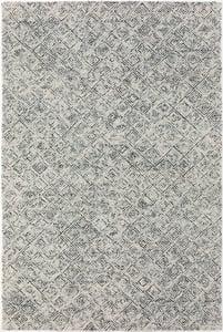 Charcoal, Grey, Ivory Zoe ZZ-1 Contemporary / Modern Area Rugs