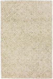 Lime, Green, Ivory Zoe ZZ-1 Contemporary / Modern Area Rugs