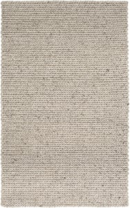 Charcoal, Ivory, Dark Brown (ANC-1006) Anchorage 298 Solid Area Rugs